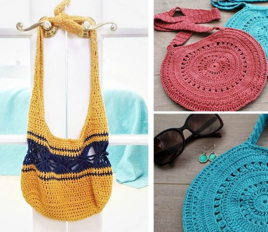 River Ripples Bag Crochet Free Pattern