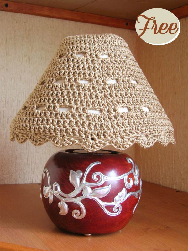 Lampshade Cozy Free Crochet Pattern
