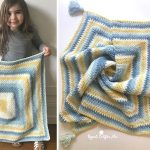 Moss Stitch Square Crochet Blanket Free Pattern