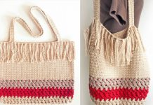 Fringe Shopping Bag Crochet Free Pattern