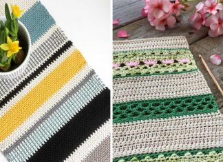 Moss Stitch Table Runner Crochet Free Pattern