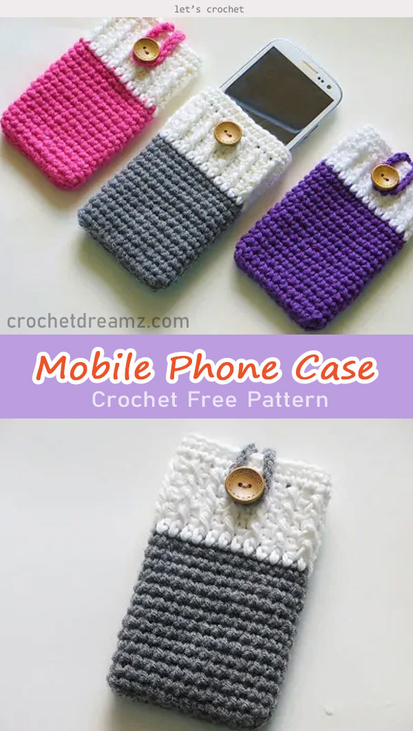 Mobile Phone Case and Purse Crochet Free Pattern