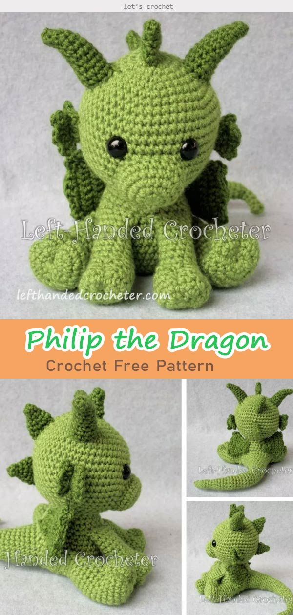 Philip The Dragon Crochet Free Pattern