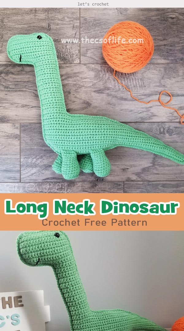 Long Neck Dinosaur Crochet Free Pattern