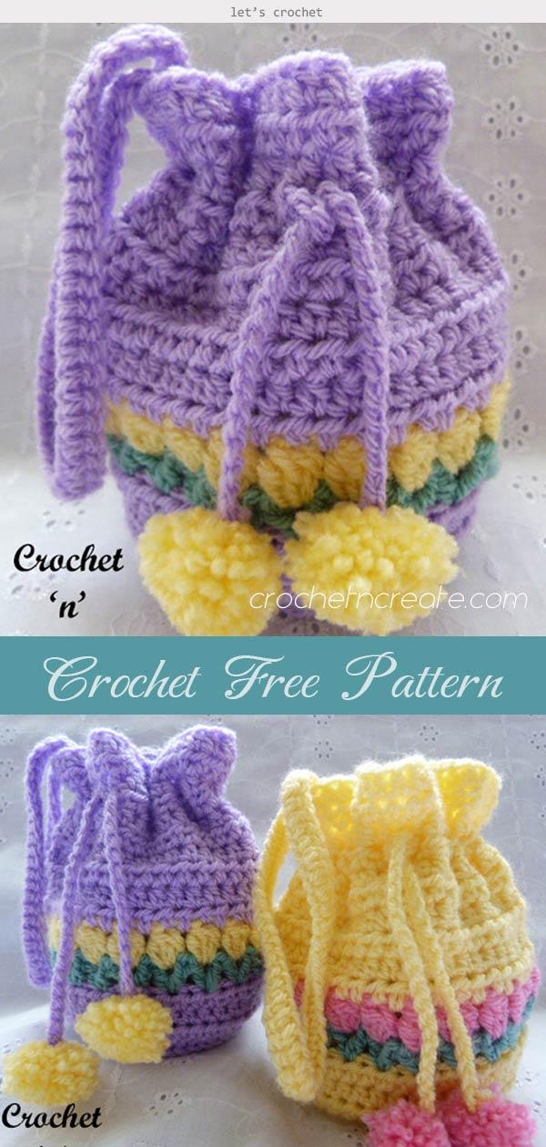 Tulip Wrist Purse Crochet Free Pattern