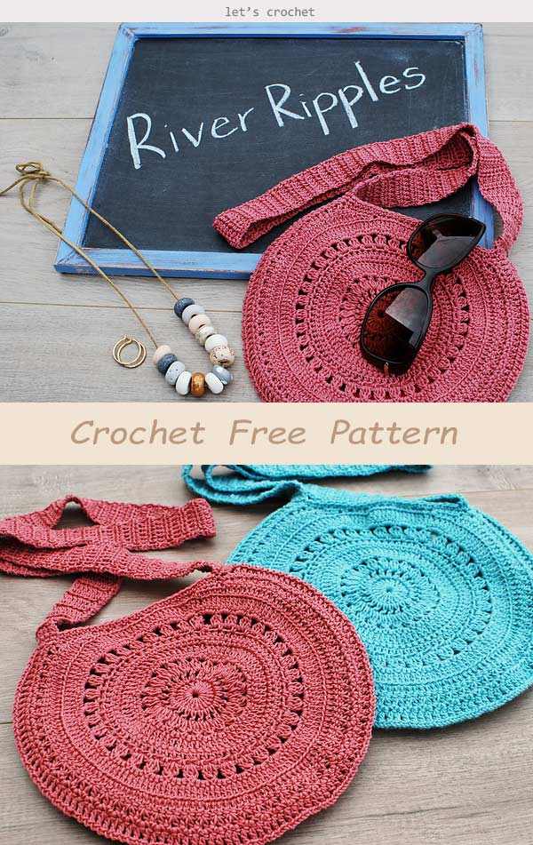 River Ripples Bag Crochet Free Pattern