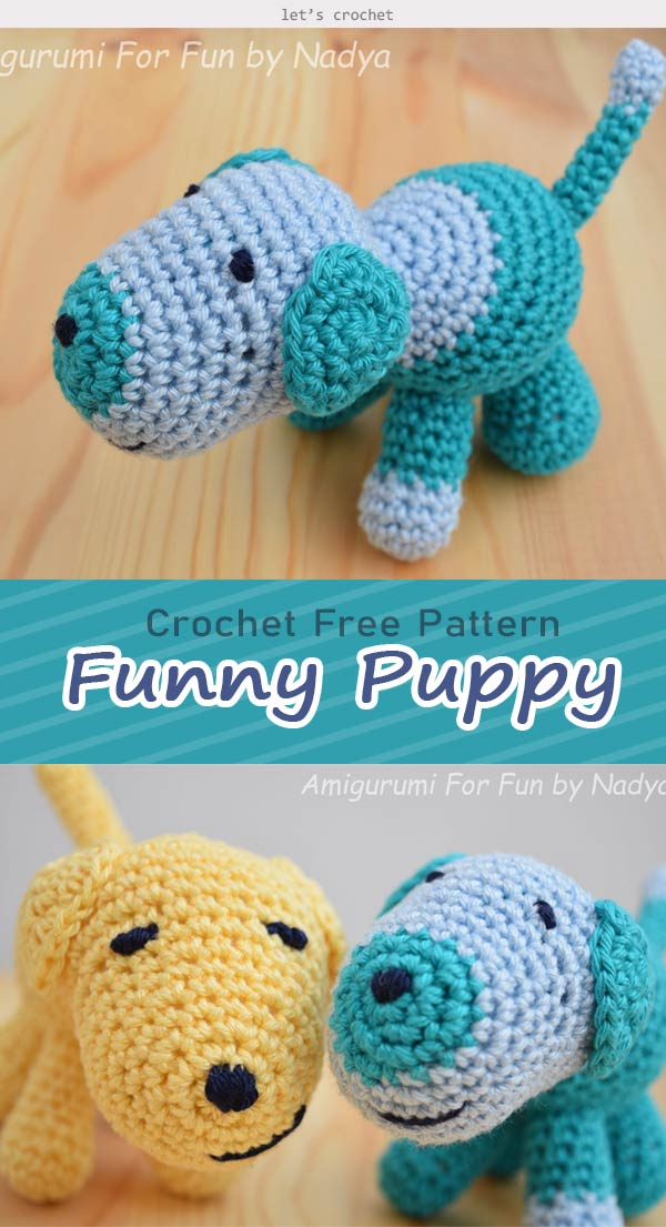 Funny Puppy Crochet Free Pattern