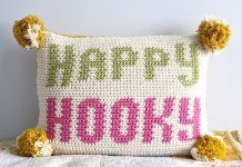 Happy Hooky Cushion Crochet Free Pattern