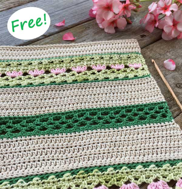 Spring Table Runner Crochet Free Pattern