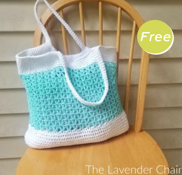 Tilted Heart Tote and Purse Crochet Free Pattern