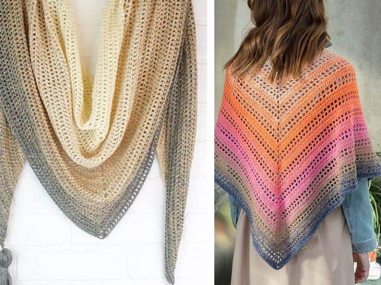 Triangle Shawl Free Crochet Pattern