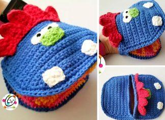 Monster Bath Mitt Free Crochet Pattern