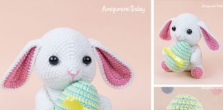 Amigurumi Bunny with Easter Egg Free Crochet Pattern