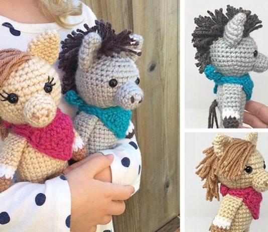 Mini Horse Free Crochet Pattern