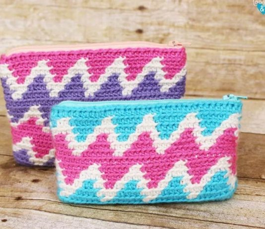 Zipper Bag Crochet Free Pattern