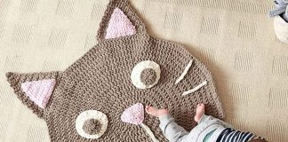 Purrrfect Play Rug Crochet Free Pattern