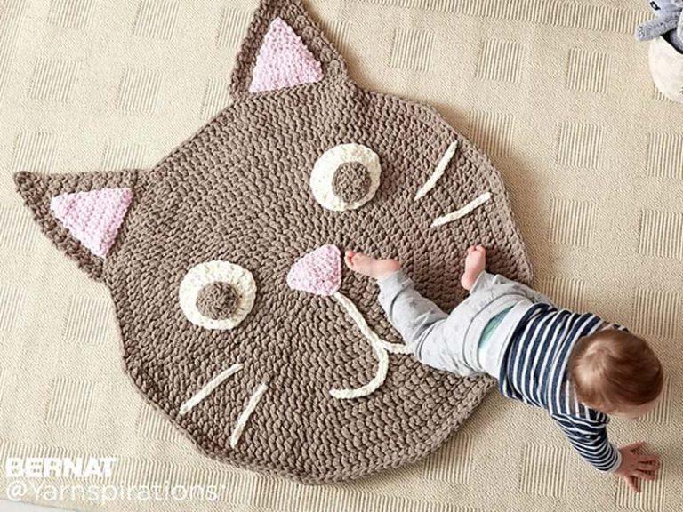 Purrrfect Play Rug Crochet Free Pattern