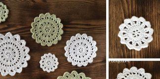 Citrus Blossom Crochet Doily Set Free Pattern
