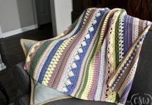 Boho Striped Baby Blanket Crochet Free Pattern