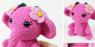 Pink Elephant Crochet Free Pattern