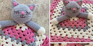 Cat Lovey Blanket Free Crochet Pattern