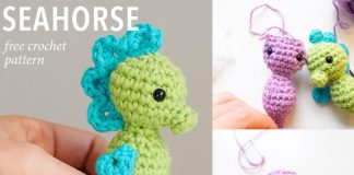 Sam the Seahorsecrochet kingdom shares a free pattern for this ... | 160x324