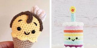 Melty the Ice Cream Cone Free Crochet Pattern
