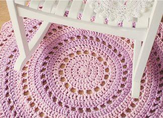 Crochet a Gorgeous Mandala Floor Rug Free Pattern