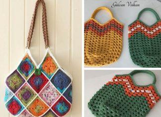 Crochet Squares Bag Free Pattern