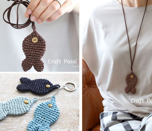 Fish Pendant Free Crochet Pattern
