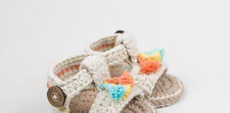 Boho Baby Sandals Free Crochet Pattern