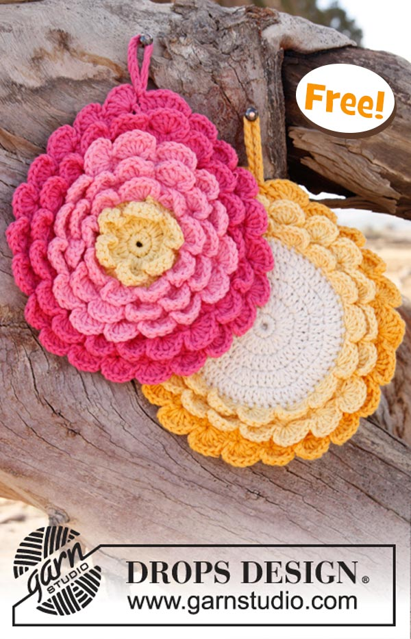 Flower Power Potholder Free Crochet Pattern