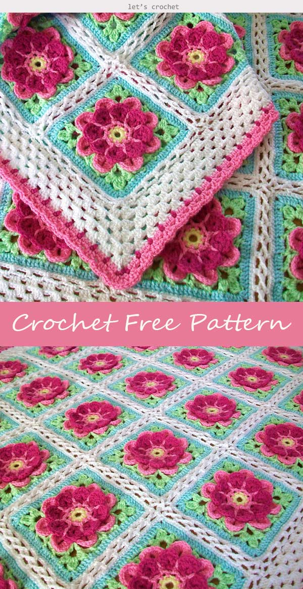 Strawberries in Spring Crochet Free Pattern