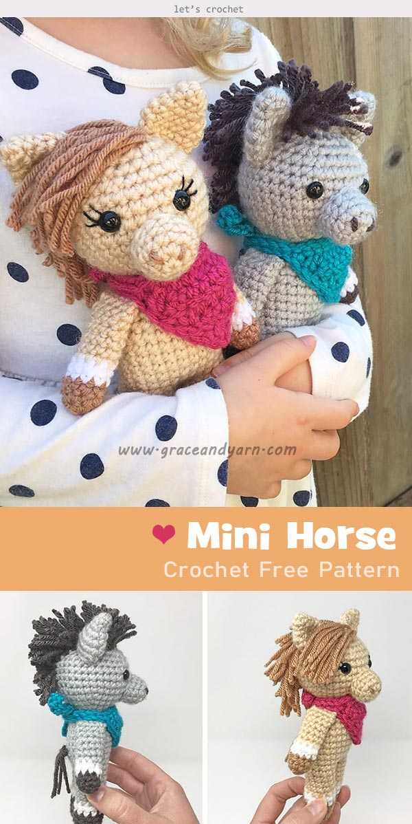 Abby The Horse Amigurumi Pattern | Stuff The Body | 1198x600