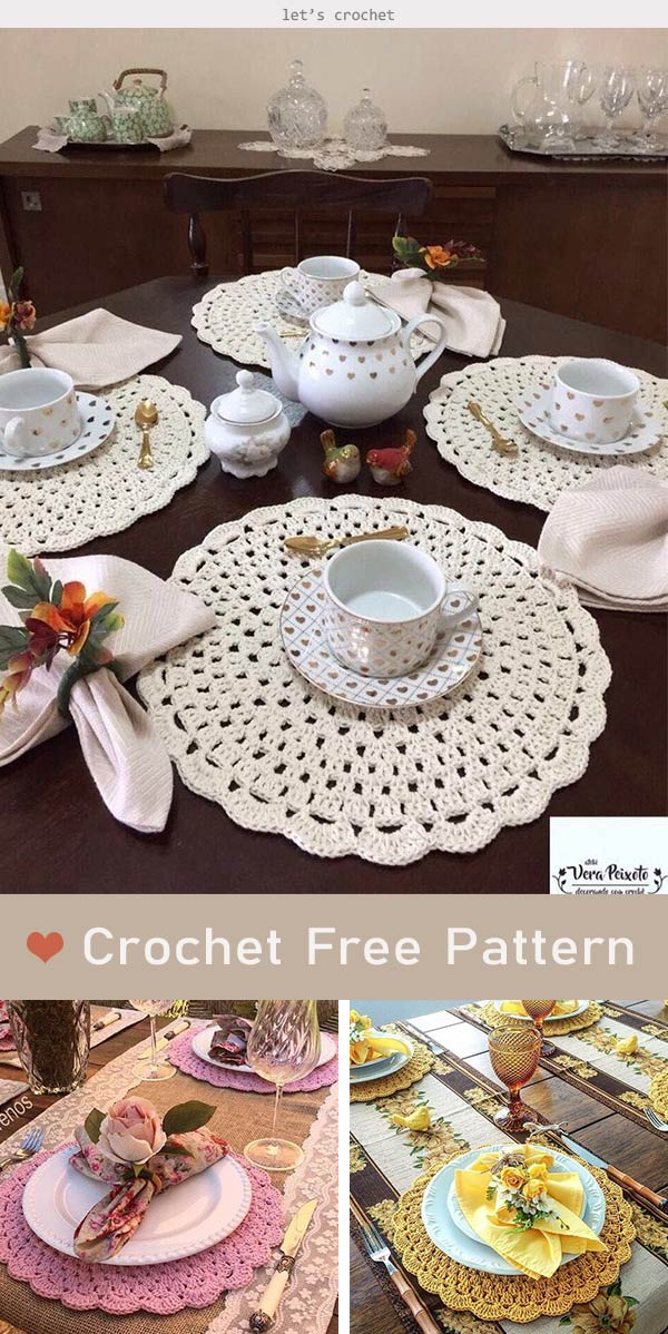 Beautiful Lace Doily Coaster Crochet Free Pattern