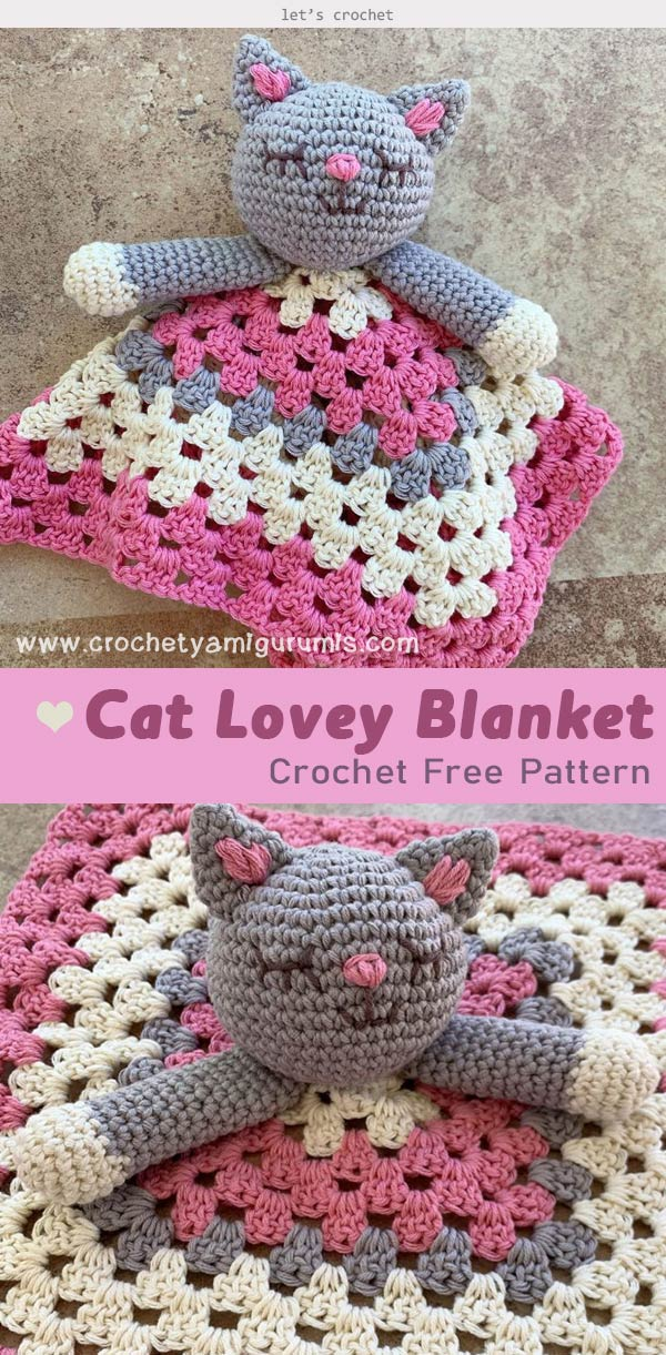 Crochet Cat Blanket Patterns You'll Love (With images) | Baby ... | 1221x600