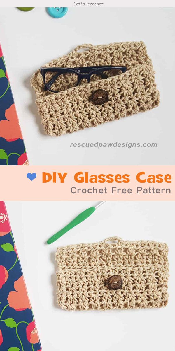 DIY Glasses Case Crochet Free Pattern