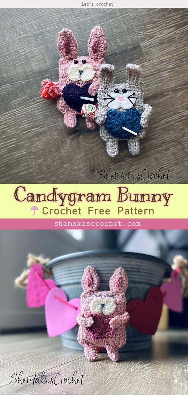 Candygram Bunny toy crochet Free Pattern