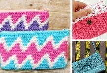 Zipper Bag Purse Crochet Free Pattern