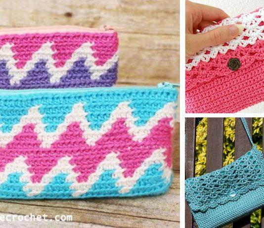 Zipper Bag Purse Crochet Free Pattern