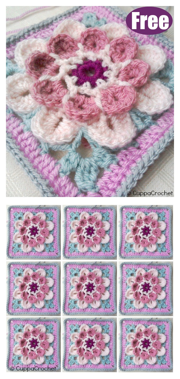 Blossom Flower Crochet Free Pattern
