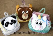 Animal Backpack Crochet Free Pattern