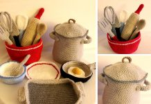 Kitchen Cooking Set Crochet Free Pattern