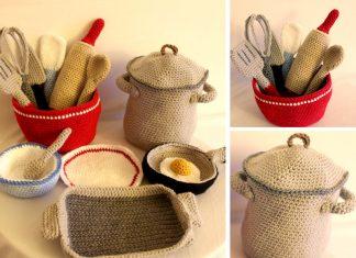 Kitchen Cooking Set Crochet Free Pattern
