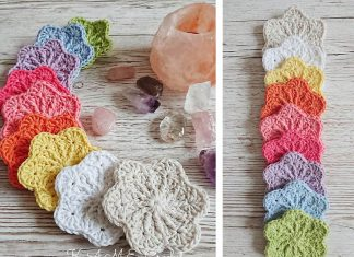 Sakura Face Scrubbies Flower Crochet Free Pattern