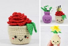 Potted Flower Free Crochet Pattern