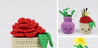 Potted Flower Free Crochet Pattern