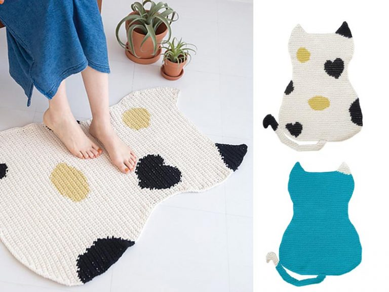 Cat Mat Free Crochet Pattern