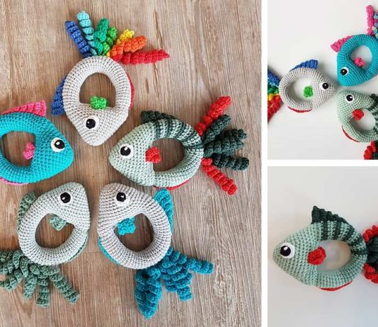 Fish Rattle Crochet Free Pattern