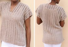 Open Waves Top for Women Crochet Free Pattern